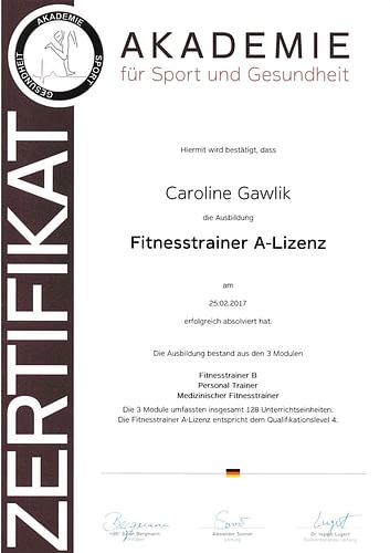 Betten Ranck Caroline Gawlik Fitnesstrainer A-Lizenz